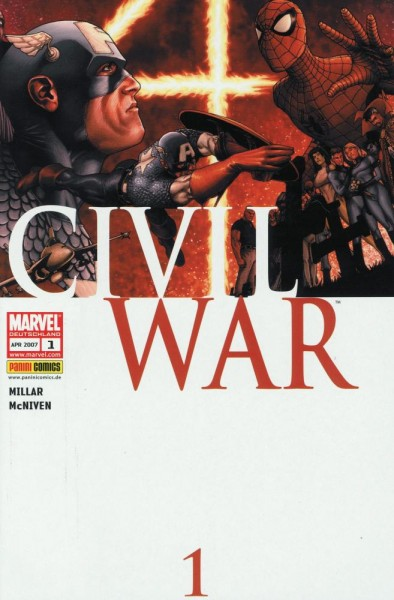 Civil War 1-7 (Z0), Panini