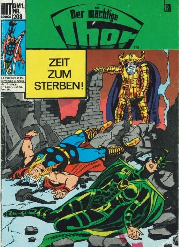 Hit Comics 208 - Der mächtige Thor (Z1-2/2), bsv